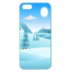 Landscape Winter Ice Cold Xmas Apple Seamless Iphone 5 Case (color) by Celenk