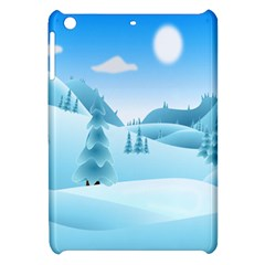 Landscape Winter Ice Cold Xmas Apple Ipad Mini Hardshell Case by Celenk