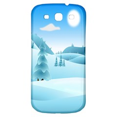 Landscape Winter Ice Cold Xmas Samsung Galaxy S3 S Iii Classic Hardshell Back Case by Celenk
