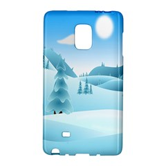 Landscape Winter Ice Cold Xmas Galaxy Note Edge by Celenk