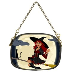 Witch Witchcraft Broomstick Broom Chain Purses (one Side)  by Celenk