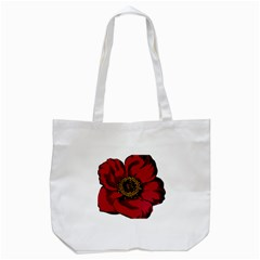 Floral Flower Petal Plant Tote Bag (white) by Celenk