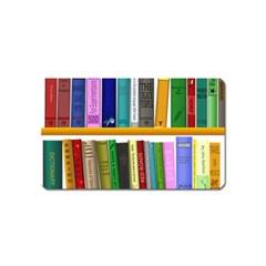 Shelf Books Library Reading Magnet (name Card) by Celenk