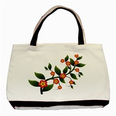 Flower Branch Nature Leaves Plant Basic Tote Bag by Celenk