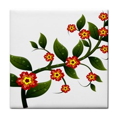 Flower Branch Nature Leaves Plant Face Towel by Celenk