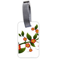 Flower Branch Nature Leaves Plant Luggage Tags (one Side)  by Celenk