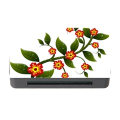 Flower Branch Nature Leaves Plant Memory Card Reader With Cf by Celenk