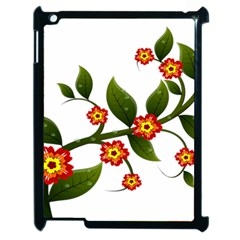 Flower Branch Nature Leaves Plant Apple Ipad 2 Case (black) by Celenk