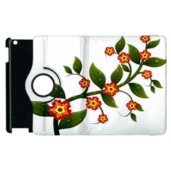 Flower Branch Nature Leaves Plant Apple Ipad 3/4 Flip 360 Case by Celenk