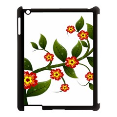 Flower Branch Nature Leaves Plant Apple Ipad 3/4 Case (black) by Celenk