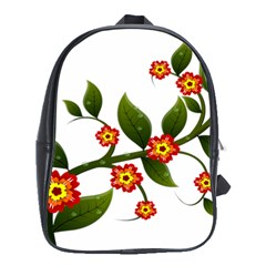 Flower Branch Nature Leaves Plant School Bag (xl) by Celenk