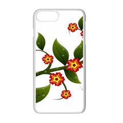 Flower Branch Nature Leaves Plant Apple Iphone 7 Plus Seamless Case (white) by Celenk
