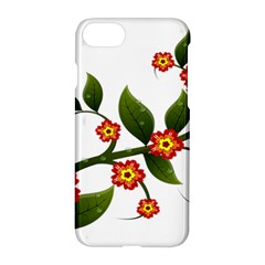 Flower Branch Nature Leaves Plant Apple Iphone 8 Hardshell Case