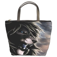 Angry Lion Digital Art Hd Bucket Bags by Celenk