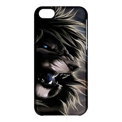 Angry Lion Digital Art Hd Apple Iphone 5c Hardshell Case by Celenk