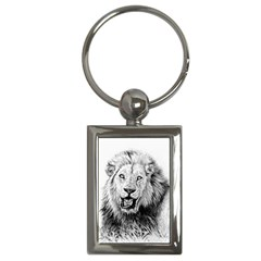 Lion Wildlife Art And Illustration Pencil Key Chains (rectangle)  by Celenk