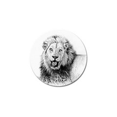 Lion Wildlife Art And Illustration Pencil Golf Ball Marker (4 Pack) by Celenk