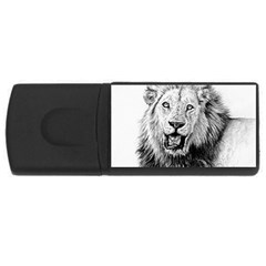 Lion Wildlife Art And Illustration Pencil Rectangular Usb Flash Drive by Celenk