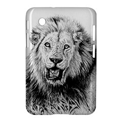 Lion Wildlife Art And Illustration Pencil Samsung Galaxy Tab 2 (7 ) P3100 Hardshell Case  by Celenk