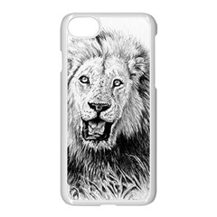 Lion Wildlife Art And Illustration Pencil Apple Iphone 8 Seamless Case (white) by Celenk
