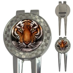The Tiger Face 3 In 1 Golf Divots by Celenk