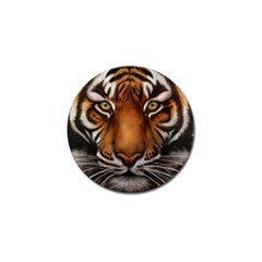 The Tiger Face Golf Ball Marker (10 Pack) by Celenk