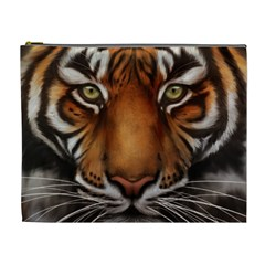 The Tiger Face Cosmetic Bag (xl) by Celenk