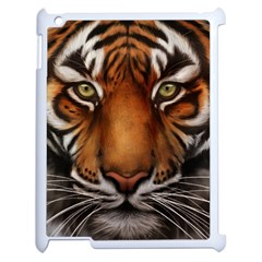 The Tiger Face Apple Ipad 2 Case (white) by Celenk