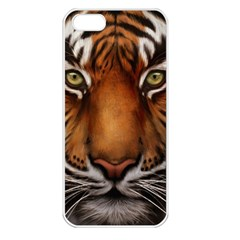 The Tiger Face Apple Iphone 5 Seamless Case (white) by Celenk
