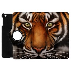 The Tiger Face Apple Ipad Mini Flip 360 Case