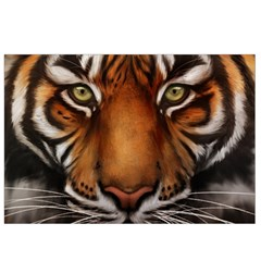 The Tiger Face Canvas Cosmetic Bag (small)