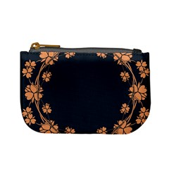 Floral Vintage Royal Frame Pattern Mini Coin Purses by Celenk