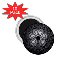 Fractal Filigree Lace Vintage 1 75  Magnets (10 Pack)