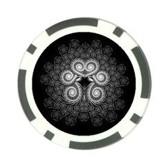 Fractal Filigree Lace Vintage Poker Chip Card Guard (10 Pack) by Celenk
