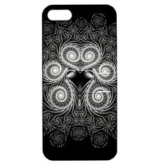 Fractal Filigree Lace Vintage Apple Iphone 5 Hardshell Case With Stand by Celenk