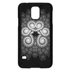 Fractal Filigree Lace Vintage Samsung Galaxy S5 Case (black)
