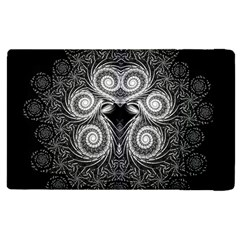 Fractal Filigree Lace Vintage Apple Ipad Pro 12 9   Flip Case by Celenk