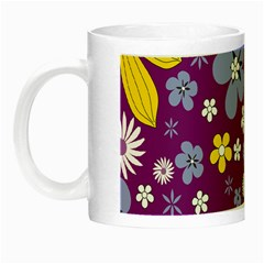 Floral Flowers Night Luminous Mugs by Celenk
