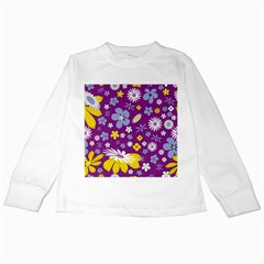 Floral Flowers Kids Long Sleeve T Shirts