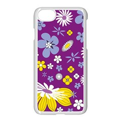 Floral Flowers Apple Iphone 8 Seamless Case (white)