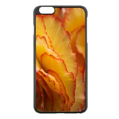 Flowers Leaves Leaf Floral Summer Apple Iphone 6 Plus/6s Plus Black Enamel Case by Celenk