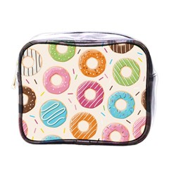 Colored Doughnuts Pattern Mini Toiletries Bags by allthingseveryday