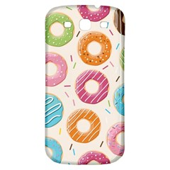 Colored Doughnuts Pattern Samsung Galaxy S3 S Iii Classic Hardshell Back Case by allthingseveryday
