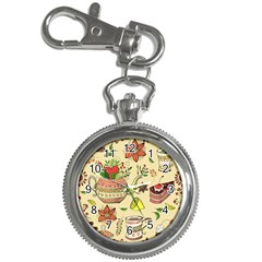 Colored Afternoon Tea Pattern Key Chain Watches by allthingseveryday