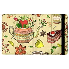 Colored Afternoon Tea Pattern Apple Ipad 2 Flip Case by allthingseveryday