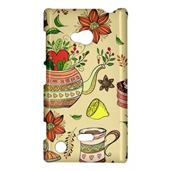 Colored Afternoon Tea Pattern Nokia Lumia 720 by allthingseveryday