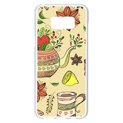 Colored Afternoon Tea Pattern Samsung Galaxy S8 Plus White Seamless Case
