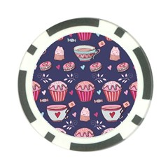 Afternoon Tea And Sweets Poker Chip Card Guard by allthingseveryday