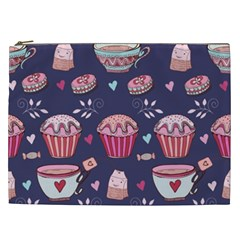 Afternoon Tea And Sweets Cosmetic Bag (xxl)  by allthingseveryday