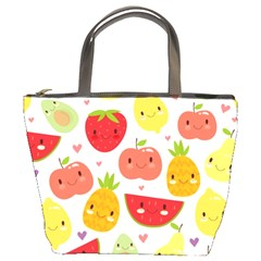 Happy Fruits Pattern Bucket Bags by allthingseveryday